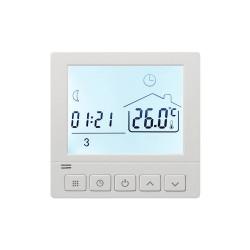 Ambient Termostat Techstar® TH-8, Ecran Digital, Incastrabil, 16A, 3500W, Alimentare 220V, Senzor Pardoseala, Alb