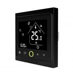 Ambient Termostat Techstar® Smart TH-20W, Wireless, 16A, 3500W, Google Home, Alexa, Tuya, Senzor Pardoseala, Ecran LED, Negru