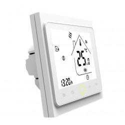Ambient Termostat Techstar® Smart TH-20W, Wireless, 16A, 3500W, Google Home, Alexa, Tuya, Senzor Pardoseala, Alb
