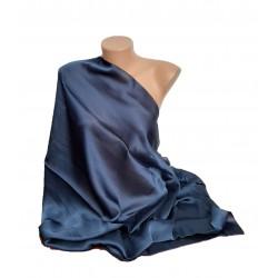 Esarfa Dama Tip Sal, Dreptunghiulara, Uni , Albastru Bleumarin