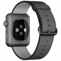 Curea iUni compatibila cu Apple Watch 1/2/3/4/5/6, 40mm, Nylon, Woven Strap, Electric Gray