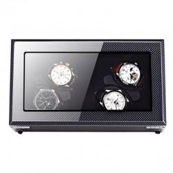 Cutie intors ceasuri automatice iUni, Watch Winder 4 Luxury Carbon