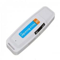 Stick USB Reportofon iUni MTK99, Inregistrare audio, Alb