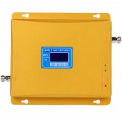 Repetor de semnal GSM Profesional iUni, W17AGW, 4G/3G, Distantare antene 20m, Digital, Gold