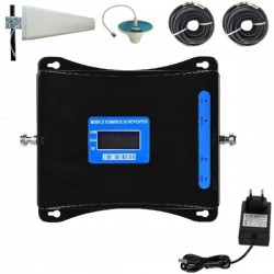 Repetor de Semnal GSM Profesional iUni W17SGD, 3G/2G, Distantare antene 20m, Negru