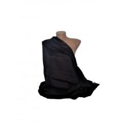 Esarfa Dama Tip Sal, Dreptunghiulara, Uni , Negru, 180 x 90 cm