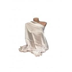 Esarfa Dama Tip Sal, Dreptunghiulara, Uni , Alb, 180 x 90 cm