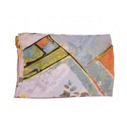 Esarfa Dama cu Model Ramuri, Multicolor, Poliester, 160cm
