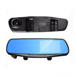 "Camera video auto dubla, tip oglinda Full-HD 1080p, display 4,3""G Senzor, detectie miscare, unghi larg filmare"