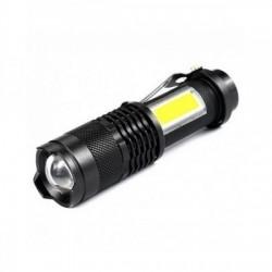 Mini lanterna de buzunar XPE LED + COB laterale, incarcare USB