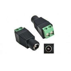 Mufa alimentare DC 2.1/5.5 mama cu Surub de prindere, pentru banda LED, camere de supraveghere etc.