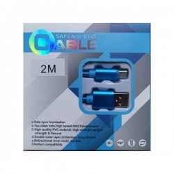 Cablu Date si Incarcare Ultrarezistent SAFE & SPEED CABLE , USB la Type-C USB-C USB 3.1, 3A Fast Charge, 2