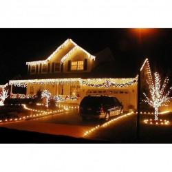 Instalatie LED cu franjuri 8 m, 200 led-uri si 8 jocuri de lumini, ALB, ALBASTRU sau MULTICOLOR