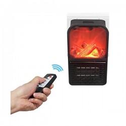 Aeroterma portabila tip semineu, 900 watti, Flame Heater, telecomanda inclusa
