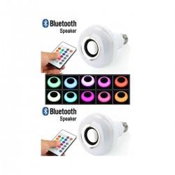 Set 2 x Bec LED inteligent, RGB, BT, E27, 12W, temperatura lumina Rece/Calda, compatibil Android/iOS