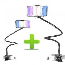 1+1 Suport, Brat Flexibil, Pentru Telefon Rotire 360, Prindere Clema