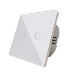 Intrerupator Smart Touch dublu, alb, Spin