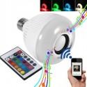 Bec becuri led Smart Dimmable Bluetooth cu difuzor 3W si telecomanda