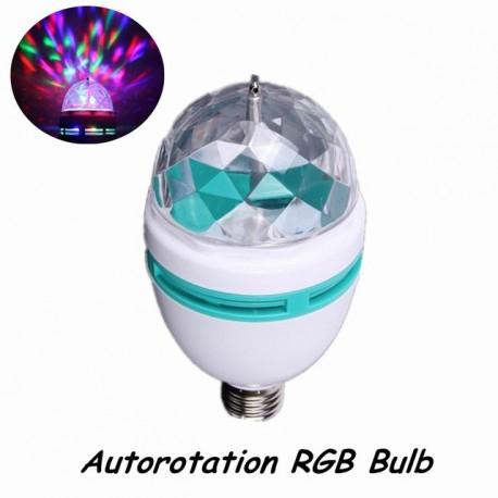 Bec rotativ proiector multicolor cu LED 3W SMD
