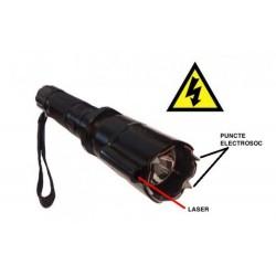 Lanterna multifunctionala cu electrosoc si laser