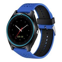 Smartwatch MTK V9 cu Bluetooth si Camera Foto Compatibil Sim si MicroSD Albastru