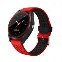 Smartwatch Bluetooth V9 Rosu Mrk Compatibil Sim si Mi