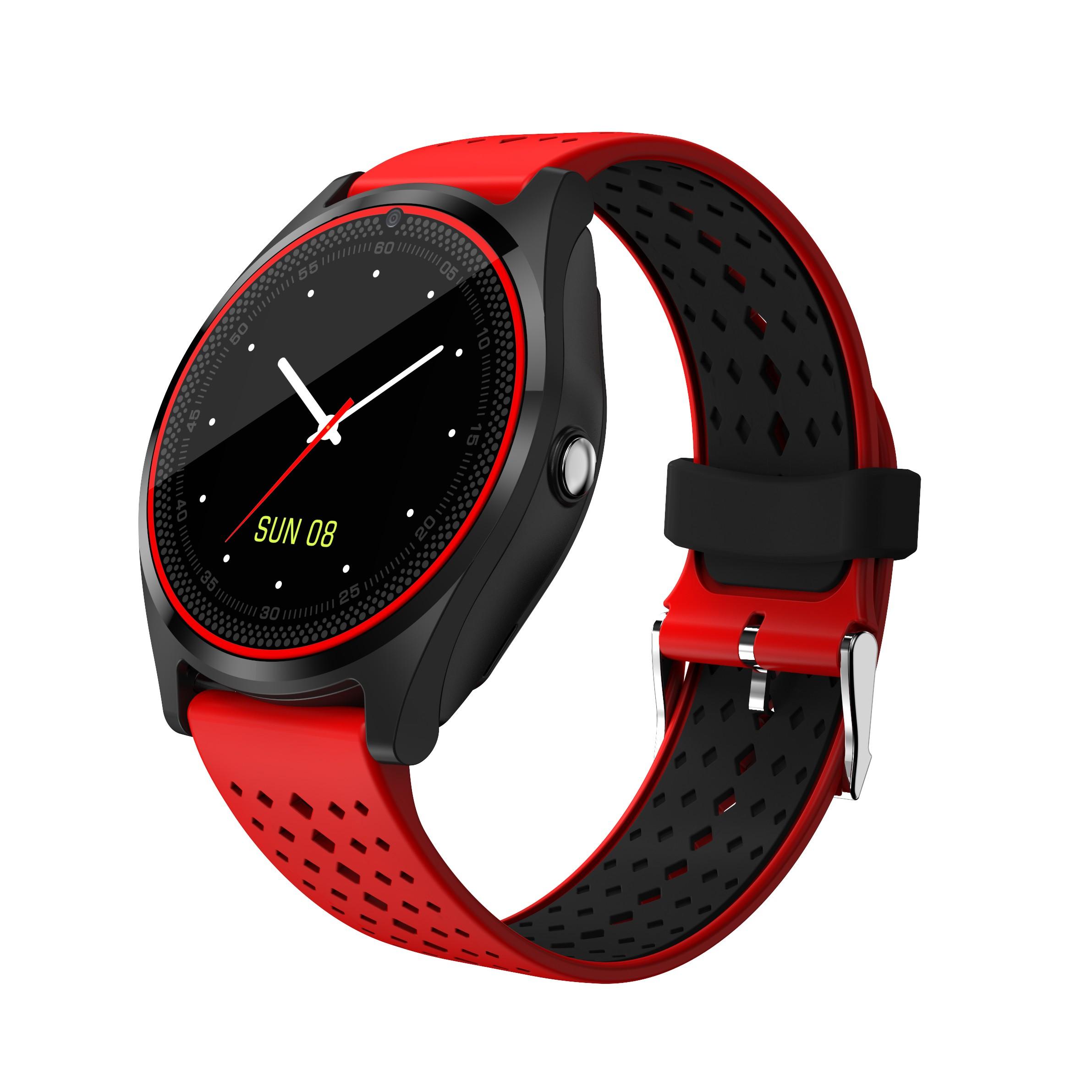 Smartwatch MTK V9 Rosu cu Bluetooth si Camera Foto