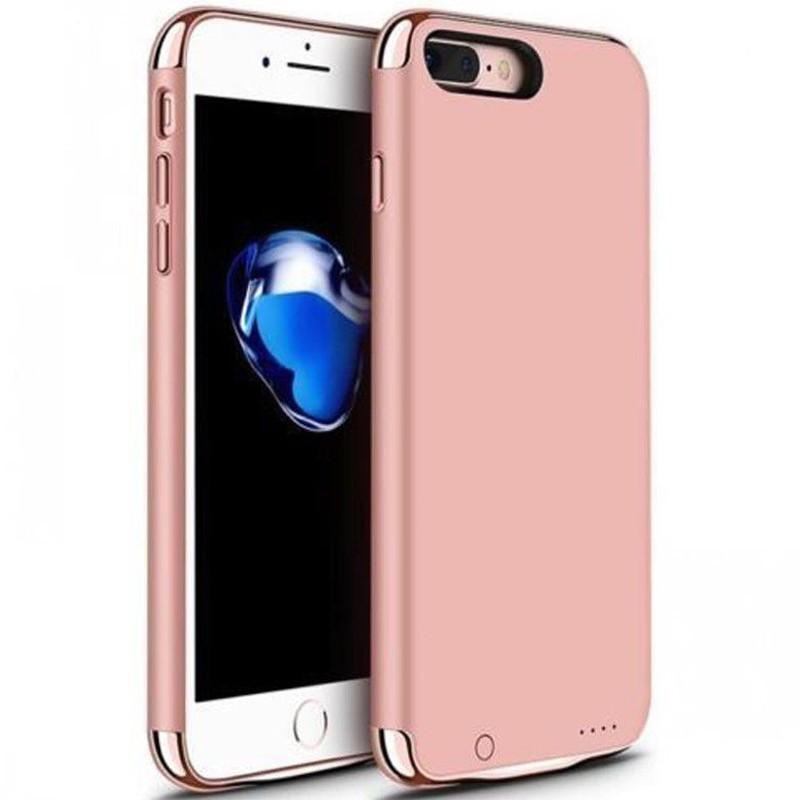 Husa Baterie Ultraslim iPhone 7 Plus/8 Plus, iUni Joyroom 3500mAh, Rose Gold imagine techstar.ro 2021