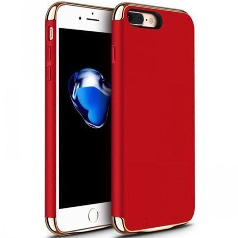 husa baterie ultraslim iphone 7 plus, iuni joyroom 3500mah, red