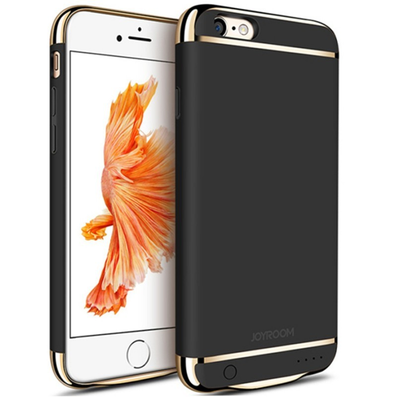 husa baterie ultraslim iphone 6 plus/6s plus, iuni joyroom 3500mah, black
