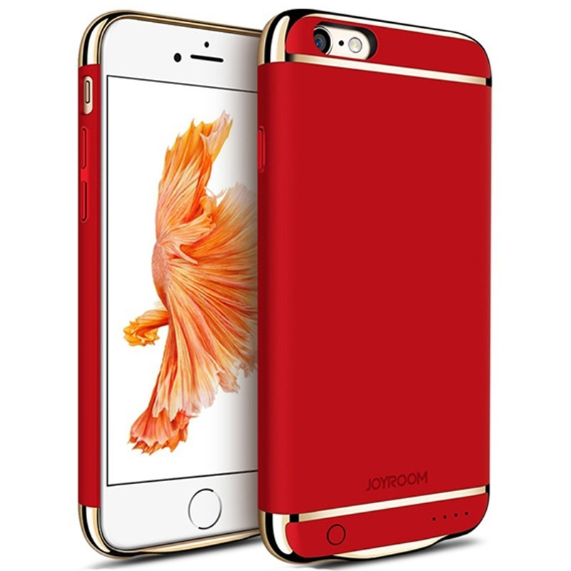 husa baterie ultraslim iphone 6 plus/6s plus, iuni joyroom 3500mah, red