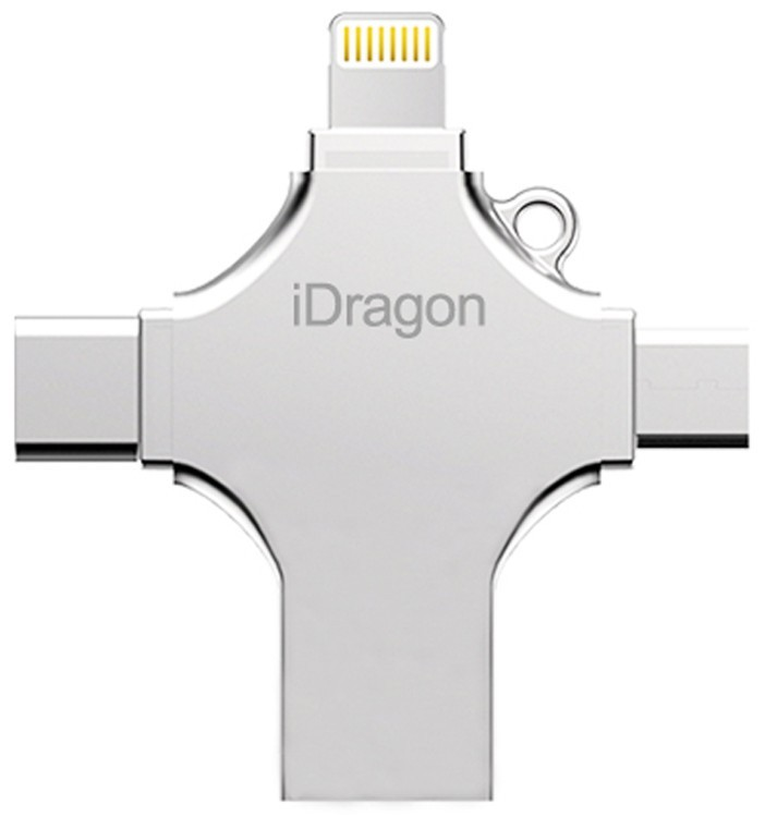 Stick USB-C 32GB iUni iDragon 4 in 1 Lightning, MicroUSB, Type-C, USB 3.0 Smartphone iOS si Android imagine techstar.ro 2021