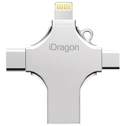 Stick USB-C 16GB iUni iDragon 4 in 1 Lightning, MicroUSB, Type-C, USB 3.0 Smartphone iOS si Android