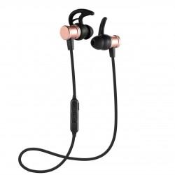 Casti Bluetooth iUni CB07 Cu Magnet, Rose Gold