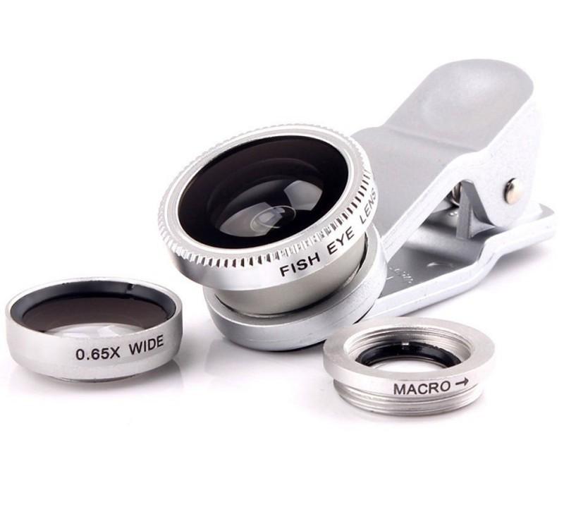 Kit Lentile Foto iUni 3-in-1 Macro, Wide Angle si FishEye compatibile cu Smartphone si Tableta, Argintiu imagine techstar.ro 2021