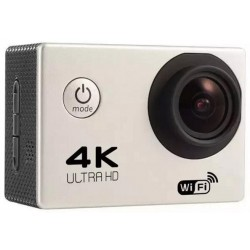 Camera Video Sport 4K iUni Dare 85i, WiFi, mini HDMI, 2 inch LCD, Argintiu + Sport Kit