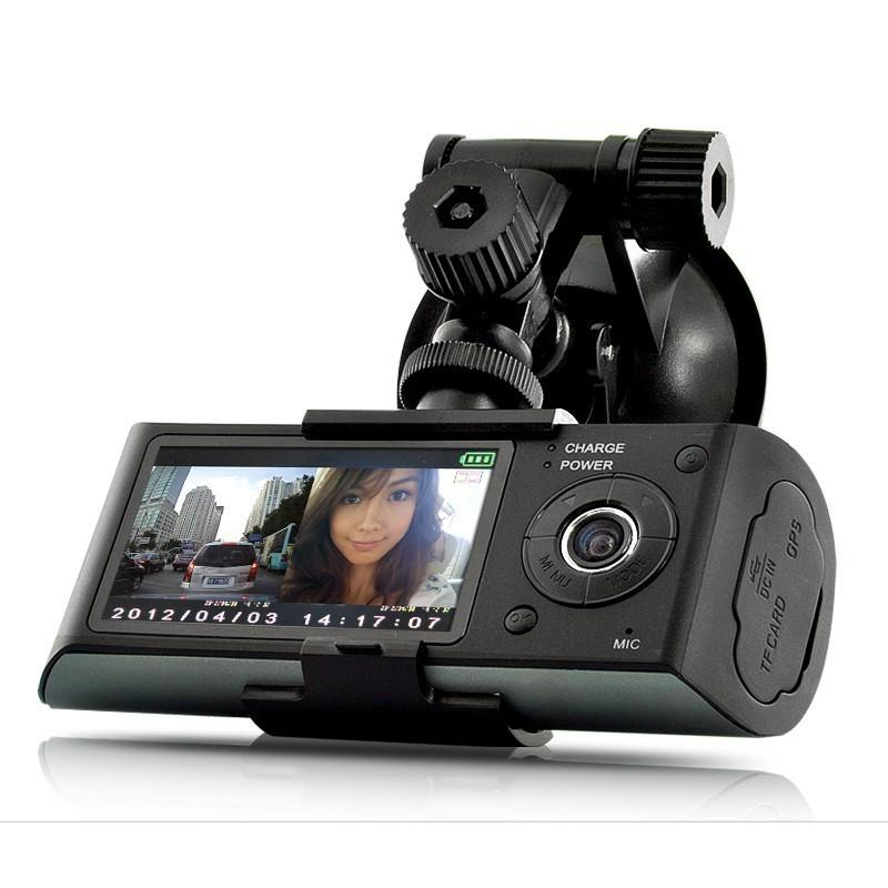 Camera Auto Dubla Cu GPS iUni Dash X3000 Plus, display 2.7 inch