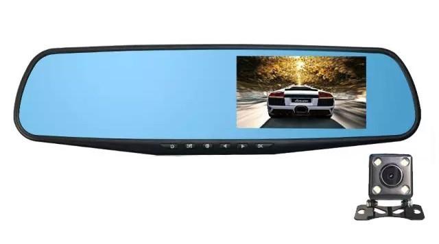Camera Auto iUni Dash B900H Oglinda, Dual Cam, Full HD, Night Vision, Foto, Playback, Senzor G