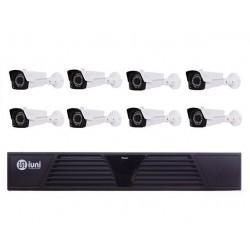 Sistem Supraveghere 8 Camere iUni, 36 Led IR, 720p, HDMI, VGA, 2 USB, LAN, PTZ, 4 canale audio