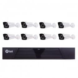 Sistem Supraveghere 8 Camere iUni, 36 Led IR, 1080p, HDMI, VGA, 2 USB, LAN, PTZ,
