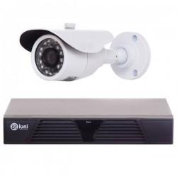 Sistem Supraveghere iUni cu o Camera, 24 Led IR, 720p, HDMI, VGA, 2 USB, LAN, PTZ, 4 canale audio