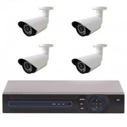 Sistem Supraveghere 4 Camere iUni FULL HD 1080p, 36 Led IR, 1080p, HDMI, VGA, 2 USB, LAN, PTZ, 4 canale audio, 4 Microfoane