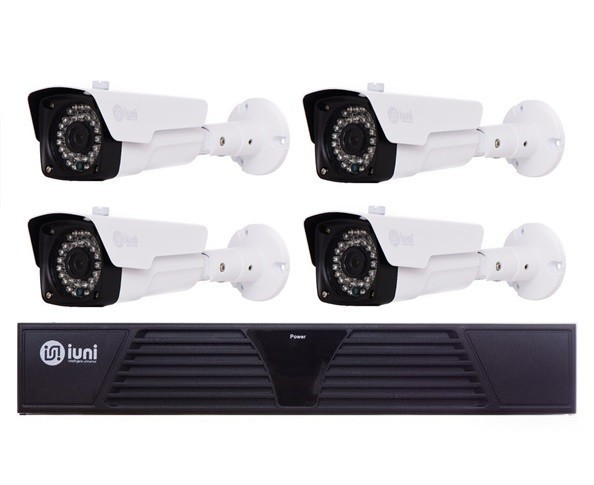 Sistem Supraveghere 4 Camere iUni, 36 Led IR, 720p, HDMI, VGA, 2 USB, LAN, PTZ, 4 canale audio