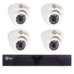 Sistem Supraveghere iUni 4 Camere CMOS 1 MP, 30 Led IR, DVR 4 Canale HD 720p, HDMI, VGA, 2 USB, LAN, PTZ, 4 canale audio
