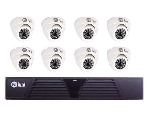 Sistem Supraveghere iUni 8 Camere CMOS 1 MP, 30 Led IR, DVR 8 Canale HD 720p, HDMI, VGA, 2 USB imagine techstar.ro 2021