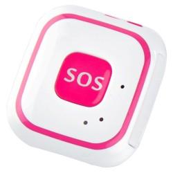 Mini GPS Tracker GSM iUni V29, SOS, GPS+LBS+WIFI, copii si varstnici, Roz