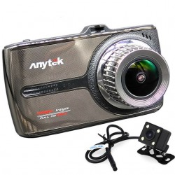 Camera auto DVR iUni Dash 66G, Touchscreen, Dual Cam, Full HD, WDR, 170 grade, by Anytek