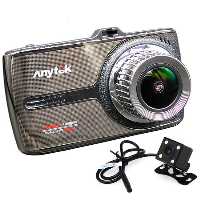 Camera auto DVR iUni Dash 66G, Touchscreen, Display IPS 3.5 inch, Dual Cam, Full HD, WDR, 170 grade, by Anytek imagine techstar.ro 2021