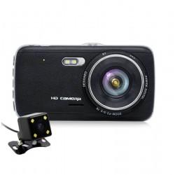 Camera Auto Dubla iUni Dash DC04, Full HD, Senzor G, LCD 4.0 Inch, Detectare miscare, Night vision