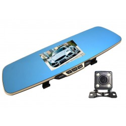 Camera Auto iUni Dash B600 Oglinda, Dual Cam, Full HD, LCD 4,3 inch, Foto, Playback
